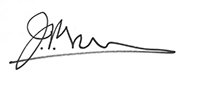 John Pepperell's signature in black ink